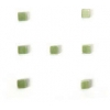 "Cat Eye Beads 4mm square Olivine Strand 16"" Fibre Optic Cube"
